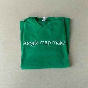 Google Map Maker Tee American Apparel Shirt Green